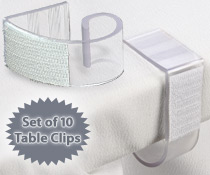 table skirt clips