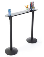 Black Writing Table with Retractable 2 Stanchions