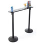 Writing Table with Retractable 2 Stanchions for Banks