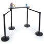Black Queue Line Writing Surface with Stanchions