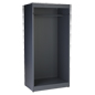 Modern open clothing display armoire store fixture