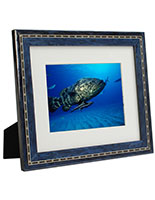 Photo Picture Frames with Italian Wood Veneer Finish in Blue