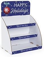 Holiday cardboard table display with UV printing