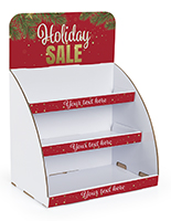 Holiday Sale cardboard display shelves knock-down design
