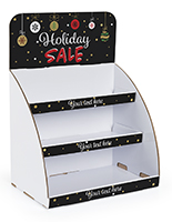 Holiday Sale cardboard display stand knock-down with easy assembly