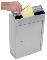 Top Loading Stainless Steel Suggestion Box