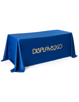 Machine Washable Blue Promotional Table Cover