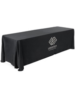 Polyester Branded Convertible Table Throw