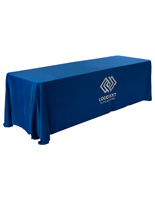 Fire-Retardant Blue Printed Table Cover