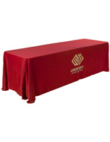 Polyester Red Printed Table Cover