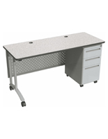 Standing Office Desk with Modesty Panel