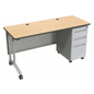 Adjustable Height Office Desk with Wheels
