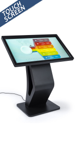 Interactive electronic touchscreen floor display kiosk directory