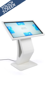 Touch screen directory floor stand with full 1080p resolution for wayfinding