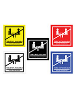 No seating table sticker with strong adhesive backing for multiple surfaces