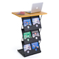 Maple Folding Magazine Rack with Tabletop