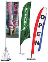Choose one of these other outdoor advertising flags to use at your next event, or outside a store.