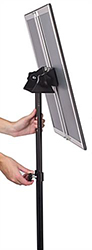 Adjustable Telescoping Sign Holder for Posters, Menus, and Advertisements