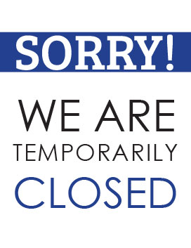 Printable temporarily closed sign