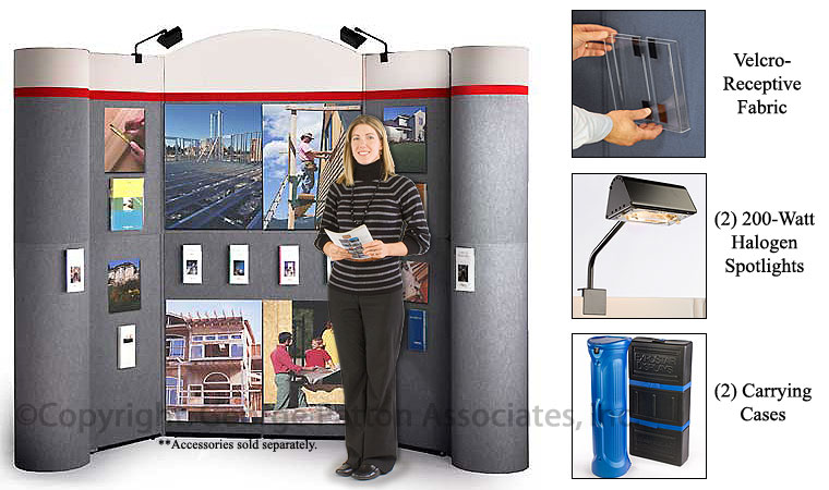 Exhibition Booth For Sale : Portable trade show booth uses hook loop receptive fabric