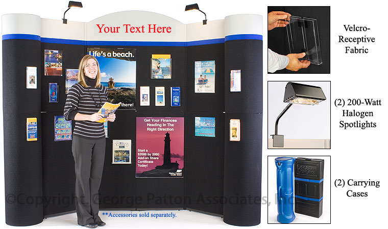 Trade Show Booth Loop : Custom trade show display booth fabric backer