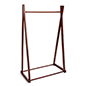 Open design wooden a-frame clothes rail