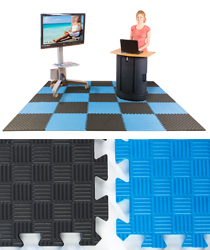 10 X 10 Interlocking Foam Mat Blue And Black
