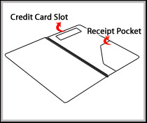Guest Check Presenter with Credit Card and Receipt/Cash Pocket