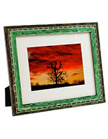 ornate green photo frames