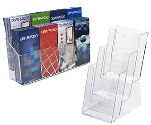 Tiered Countertop Literature Holders
