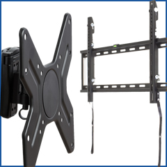 TV wall mounts with tilt and rotating features