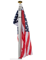 Telescoping Flagpole in Ground