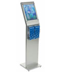 Slant Back 8.5 x 11 Sign Kiosk with Brochure Holder