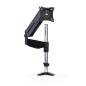 Gas spring articulating clamp mount monitor arm
