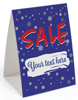 "Paper holiday promotional table tent 5"" x 7"""
