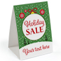 """Holiday Sale"" promotional table tent 5"" x 7"" card stock"
