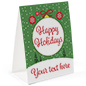 "Happy Holidays table tent 8.5"" x 11"""