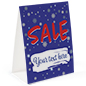 "Paper holiday advertising table tent 8.5"" x 11"""