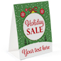 """Holiday Sale"" paper table tent double sided"