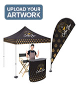 Trade show tent kit with custom printing