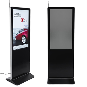 Digital wayfinding signage with pedestal design