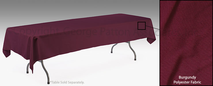 Burgundy table drape tablecloth for 8 foot tables for 10 foot long table