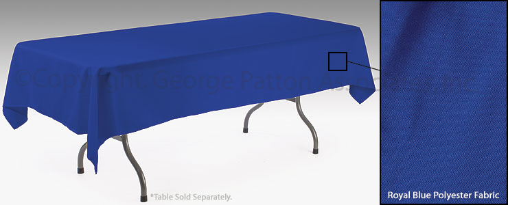 Cheap Blue Table Cloth | Royal Blue Cover for 6 ft. Tables