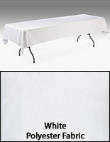 8' White Table Cover
