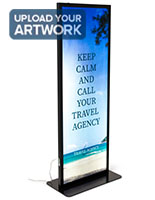 27.5 inch wide illuminated floor poster stand