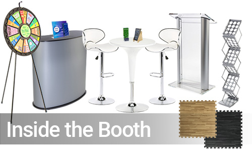 Trade show booth furnishings