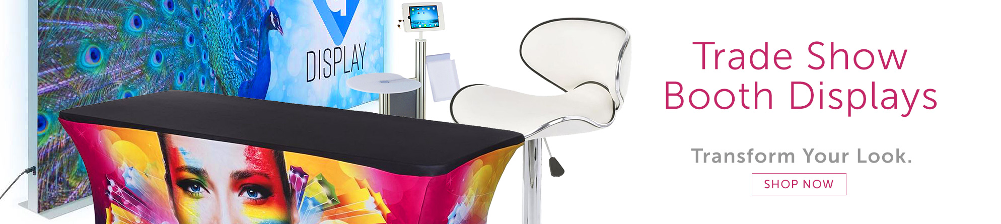 Update your graphics, digital displays, and furnishings for the next trade show with Displays2go!