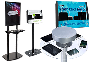 Trade Show Charging Tables and Stands