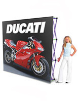 Use these trade show displays at exhibits or conventions.