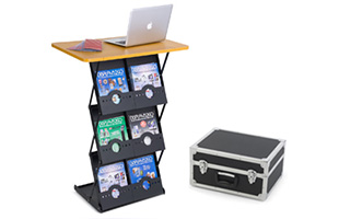 Folding Literature Racks for Trade Shows